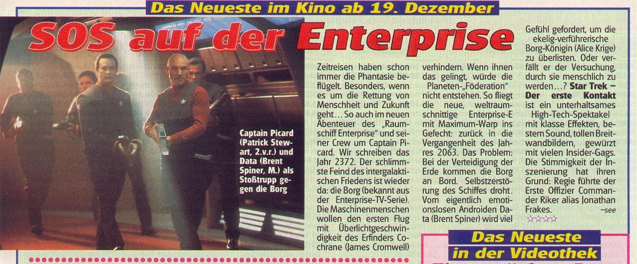 Star Trek - Der erste Kontakt Rezension TVneu 51 in 1996