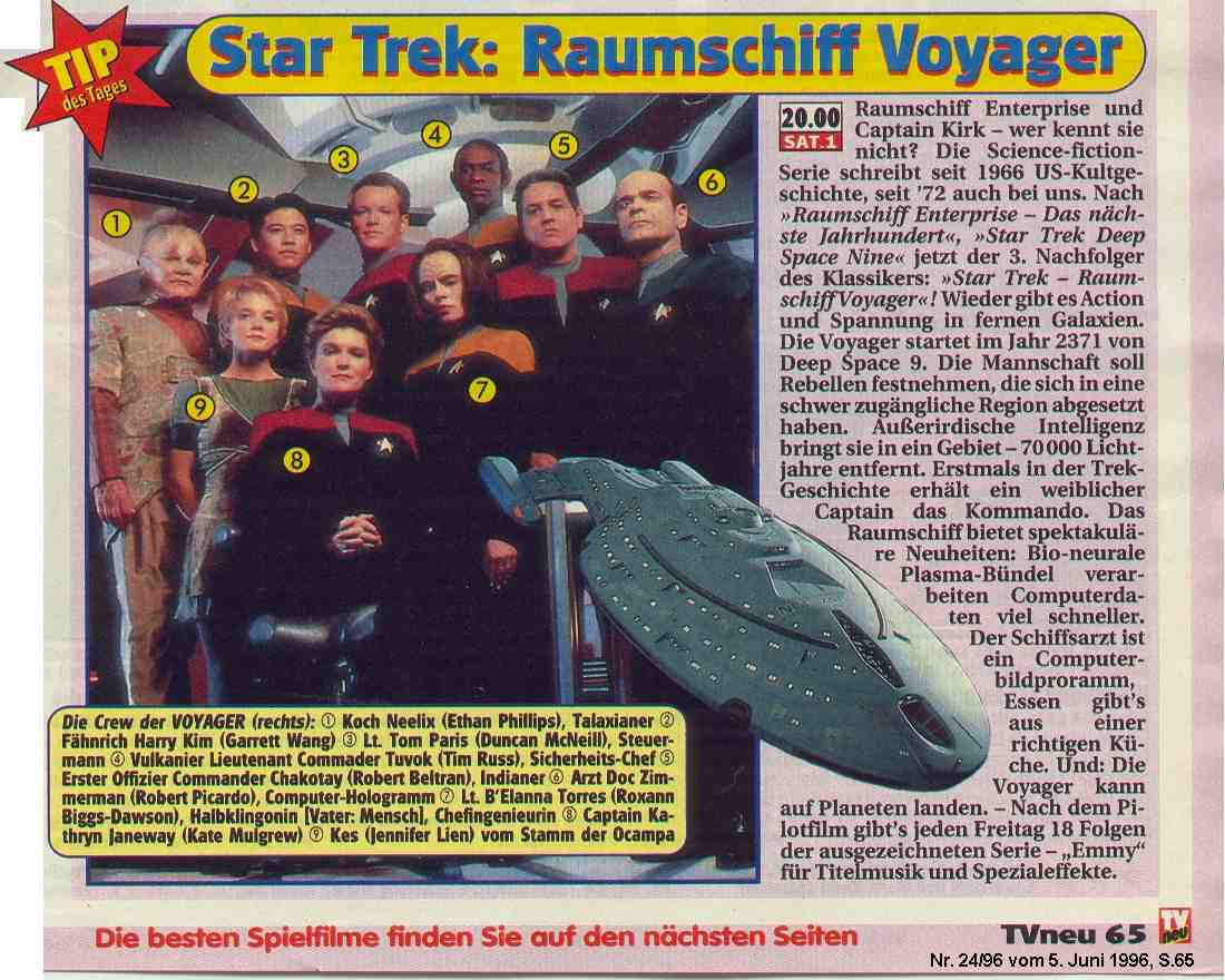 Star Trek Raumschiff Voyager Rezension TVneu 24/96