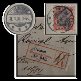 Einschreiben-Brief aus Culmsee vom 11.1.1901, registered letter