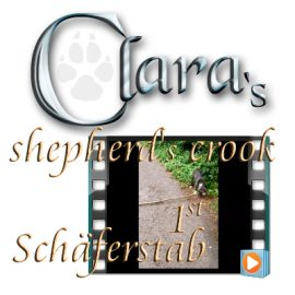 Clara's 1st shepherd's crook (Schäferstab), Video