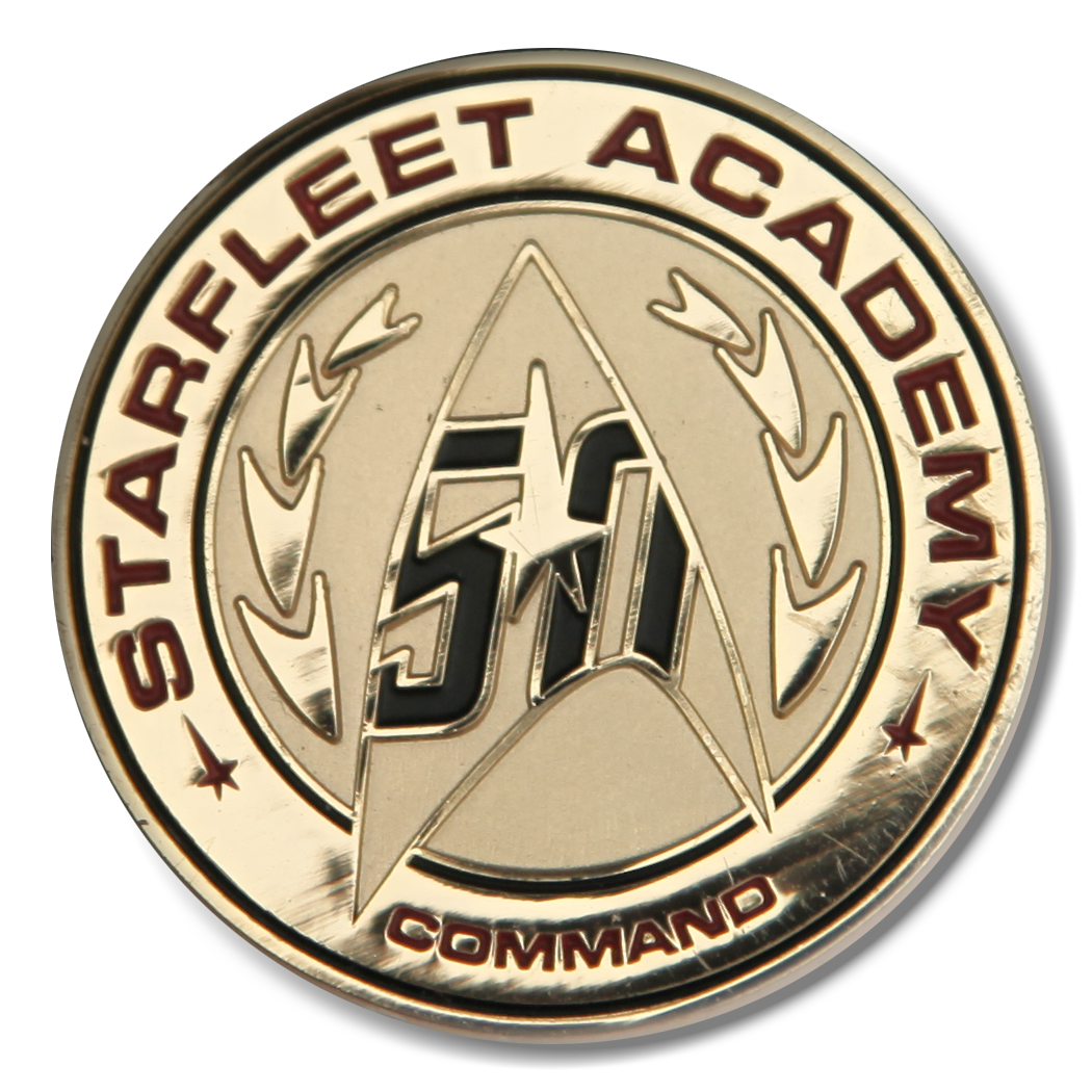 Starfleet Academy Command 50th anniversary Star Trek pin