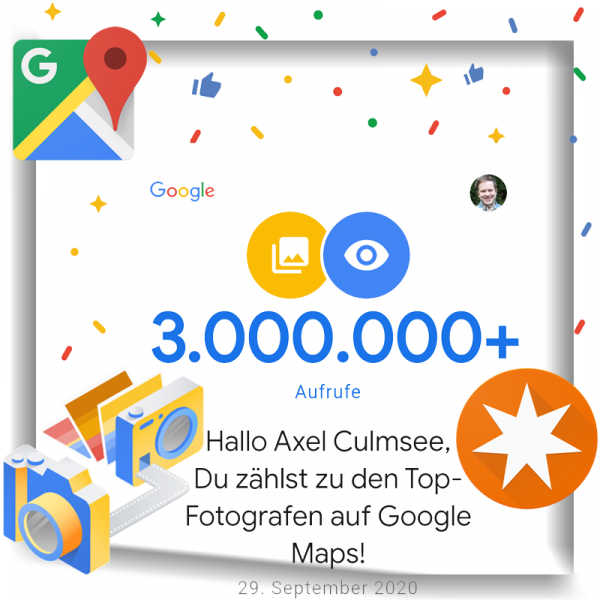 Google Maps Local Guide Fotograf-Experte 3000k views