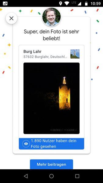 Burg Lahr, Christmas scene 2020 Google Maps, views December 31st 2020