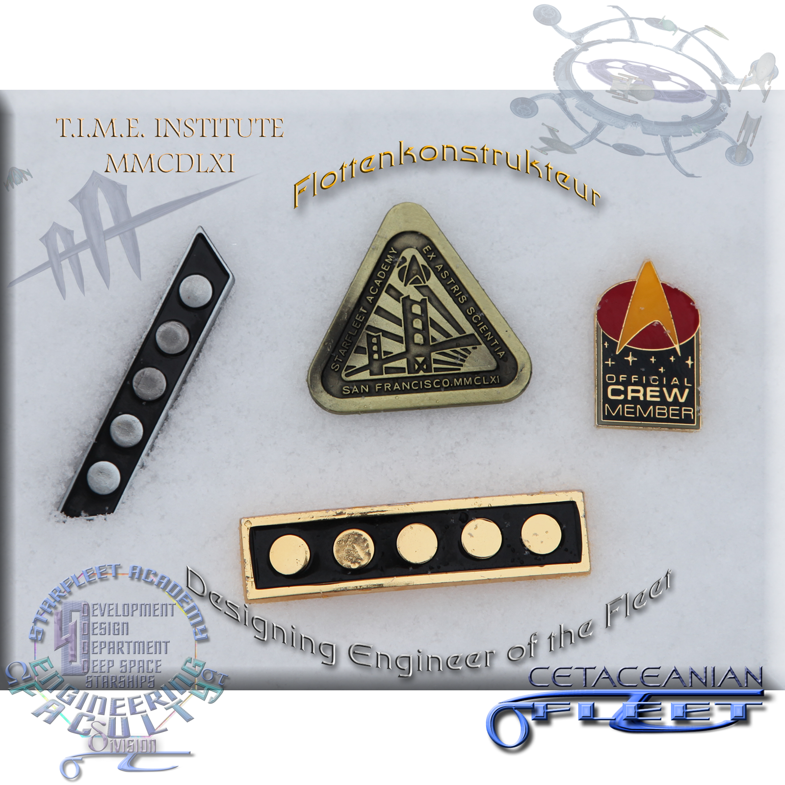 T.I.M.E. Academy insignia Designing Engineer of the Fleet - Admiral of the Fleet