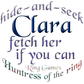 Clara hide-and-seek with catch her if you can during ring games being huntress of the ring