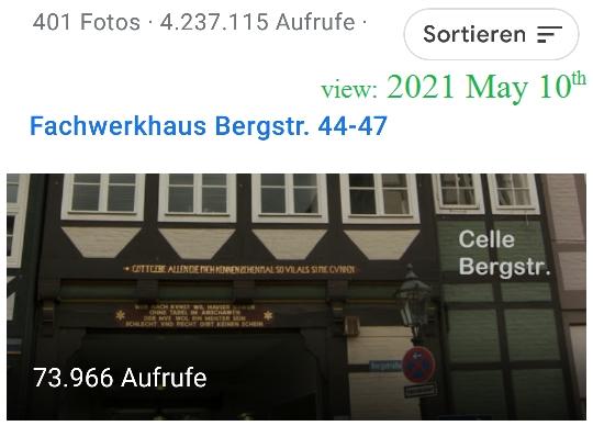 Local Guide Google Maps Celle Bergstr 44-47 Fachwerkhaus 73k views 2021-05-10