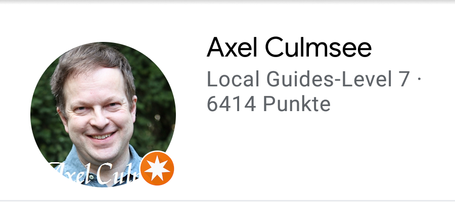 Local Guide Axel Culmsee - Points 2021 May 25th Google Maps