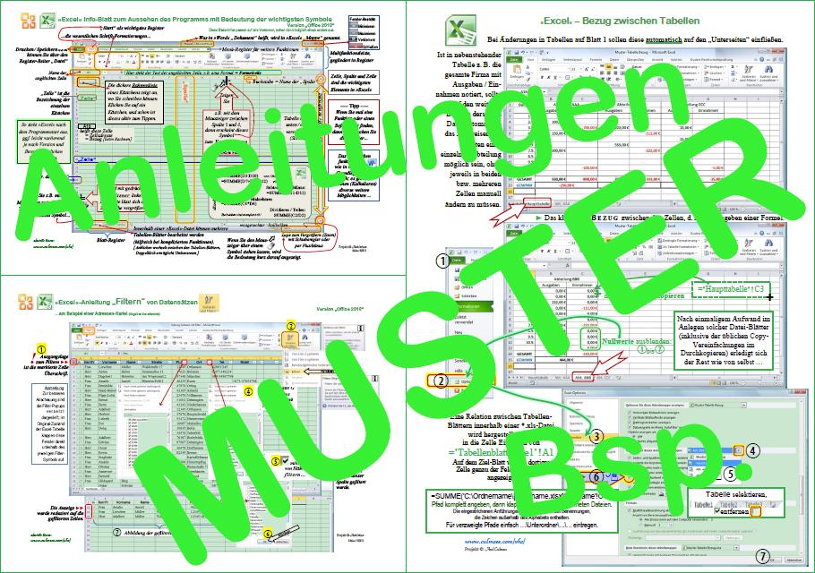 Excel-Anleitungen - Beispiele