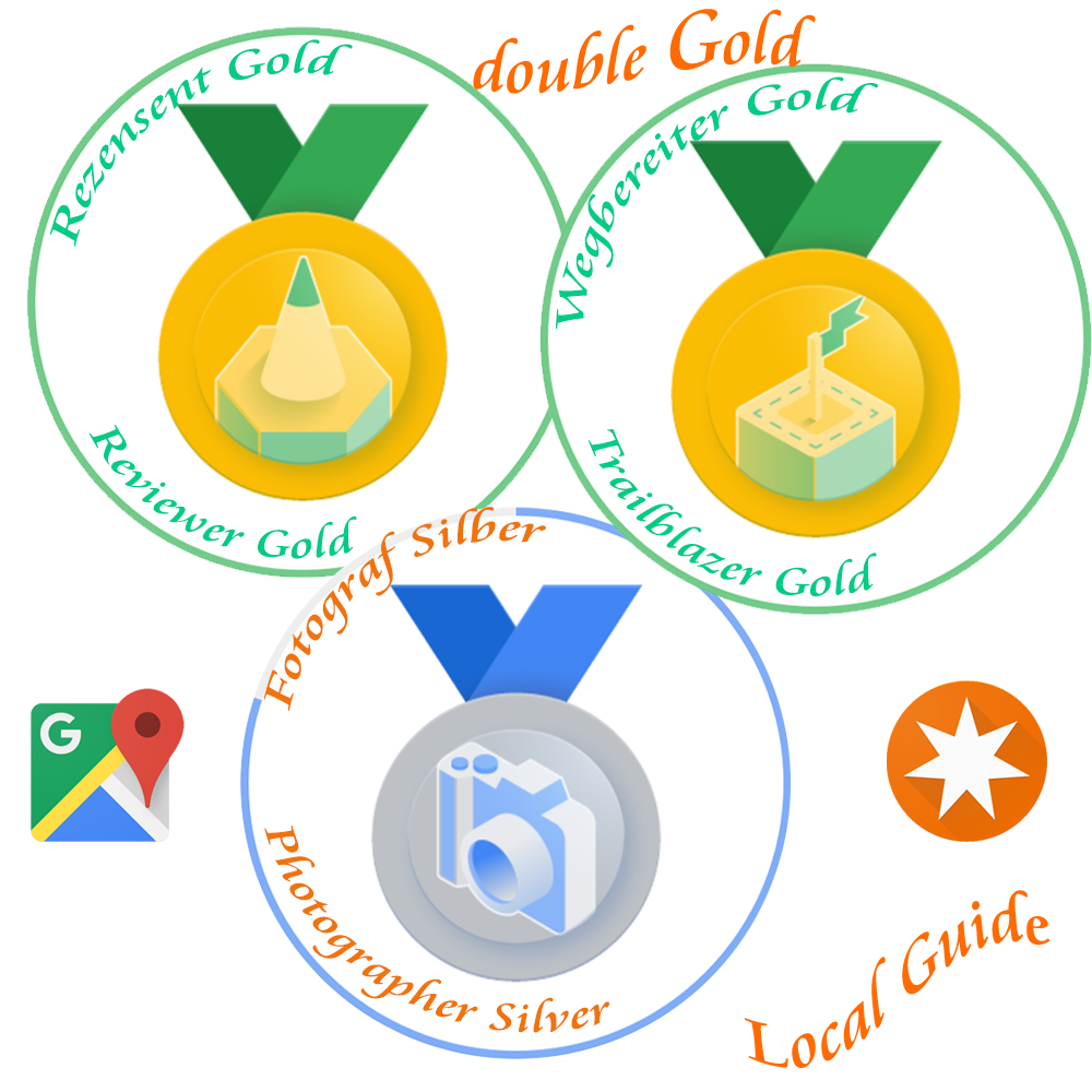 Local Guide Google Maps - double gold badges reviewer, trailblazer plus photographer silver