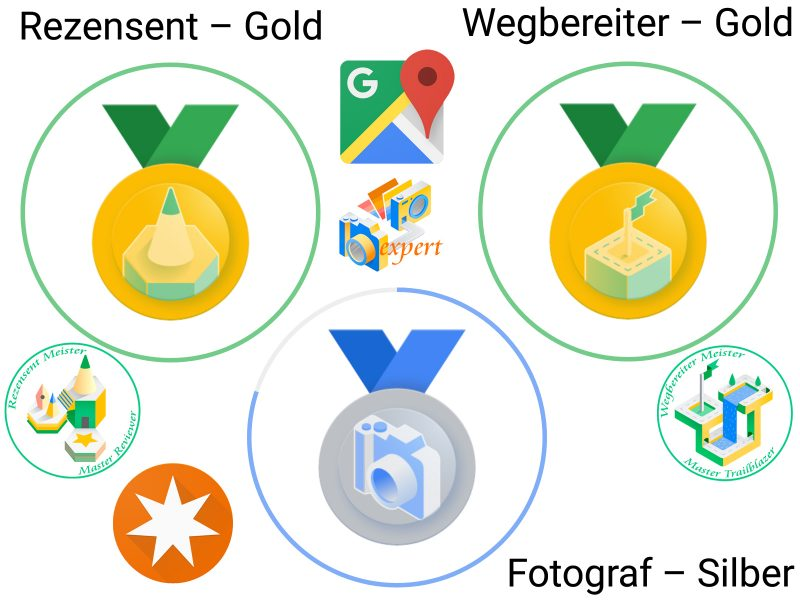 Local Guide Google Maps - badges new look June 2021