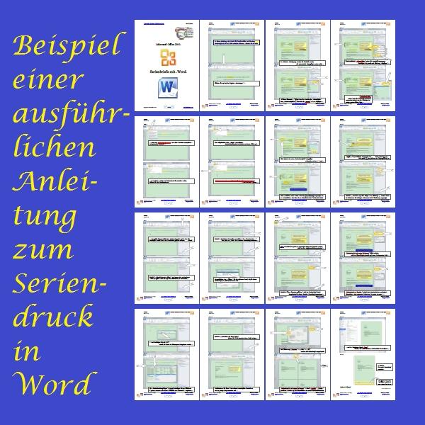 Seriendruck in Word - Beispiel einer ausführlichen Anleitung