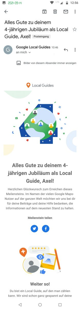 4 years being Local Guide Google Maps