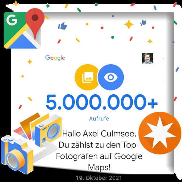 Google Maps Local Guide Fotograf-Experte 5.000.000 views