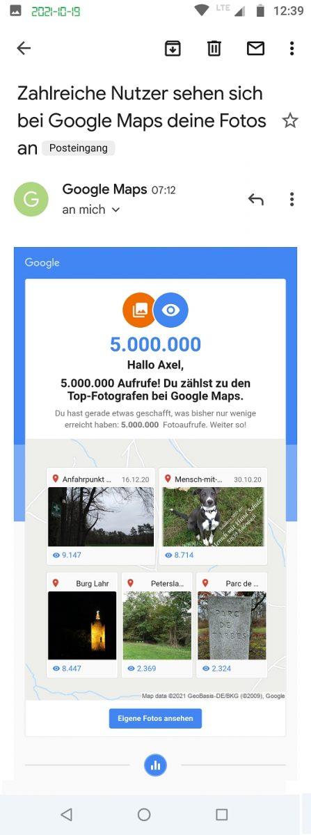 Google Maps Local Guide Fotograf-Experte 5M views