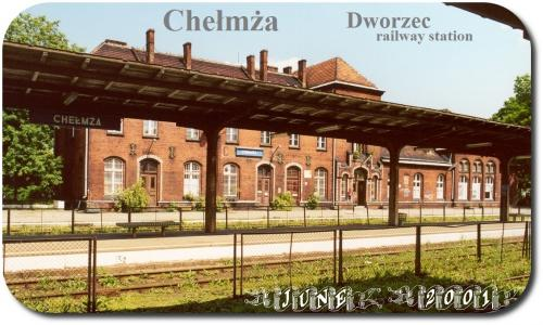 Chelmza railway station from platform 2001  3-29A